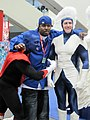 Nightcrawler & Archangel cosplayers at WonderCon 2010 2.JPG