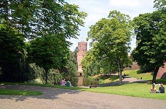 Kronenburgerpark - Image: Nijmegen Stadscentrum Kronenburger park zomer