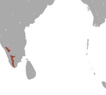 carte avec deux petites zones allongées à l'extrême sud sud ouest de l'Inde