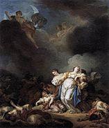 Niobe&Enfants 1770painting Anicet Charles Gabriel Lemonnier