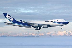 Nippon Cargo Airlines - A Nippon Cargo Airlines Boeing 747-400F lands at Milan Malpensa Airport (2008)