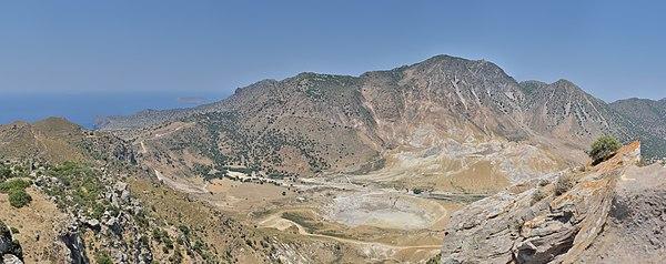 Nisyros: Stefanos Crater with caldera, as seen from Nikia
