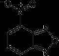 Nitro-benzoxadiazole (molecular structure).png