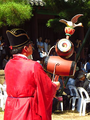 Nodo (drum) - Confucian ritual held at Munmyo Shrine, Sungkyunkwan seowon