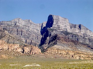 Notch Peak, a notable limestone cliff in the southern part of the House Range, Utah.