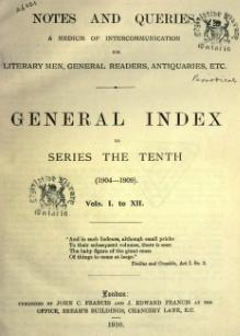 Notes and Queries - Series 10 - General Index.djvu