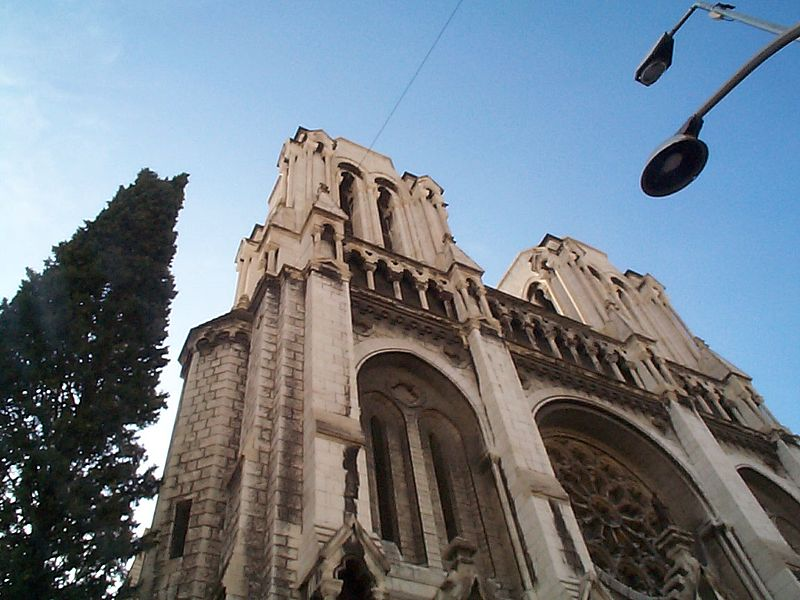 The cathedral of Notre Dame in Nice, France.