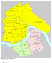 Map of the urban area of Novi Sad with city quarters (click to enlarge)