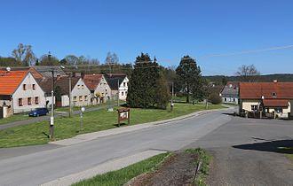 Ošelín - Center of the village