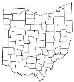 Location of Fairport Harbor, Ohio