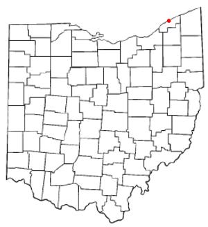 Fairport Harbor, Ohio - Image: OH Map doton Fairport Harbor
