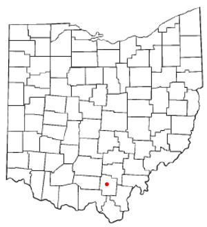 Jackson, Ohio - Image: OH Map doton Jackson