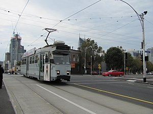 Melbourne tram route 57 - Z class tram on Victoria Street in May 2011