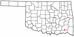 Location of Rattan, Oklahoma