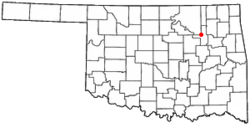 Location in the U.S. state of Oklahoma