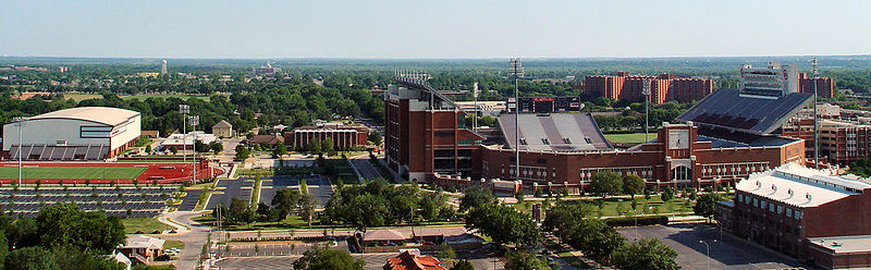 Several of the main athletic facilities at the Norman campus OU Athletic Facilities.jpg