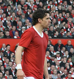 Owen Hargreaves i en match mellan Man United och Man City