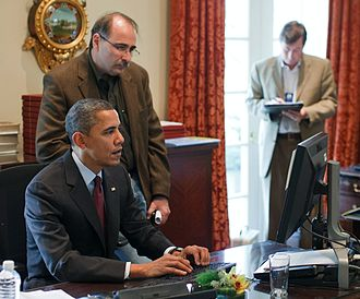 United States–Korea Free Trade Agreement - President Obama makes last-minute edits to a speech announcing the KORUS FTA on December 4, 2010.