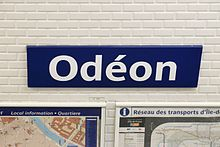 Odéon metro station, Paris 7 April 2014 001.jpg