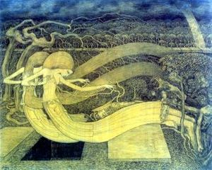 Witte Wieven - Illustration: O Grave, Where Is Thy Victory by Jan Toorop (1892)