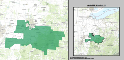 Ohios Congressional Districts Wikipedia - Us map of ohio