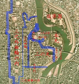 Okayama Castle - Image: Okayama Castle map