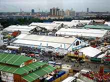 View from the ferris wheel of the marquees & Oktoberfest tents - Wikipedia