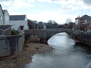 Old Bridge, Bridgend - The Old Bridge looking south