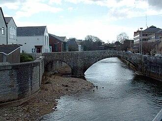 Old Bridge, Bridgend - The Old Bridge looking south