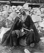 Old peasant with dagger and long smoking pipe, Mestia, Svanetia, Georgia (Republic).jpg