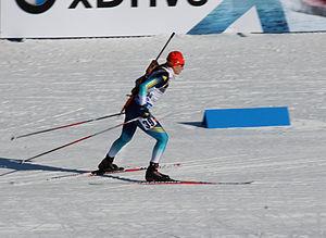 Olga Abramova - Image: Olga Abramova at Biathlon WC 2015 Nové Město