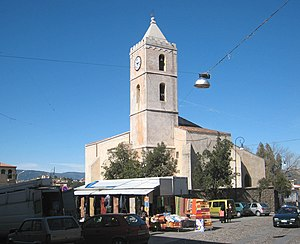 Oliena - The church of Santa Maria is at the centre of Oliena.