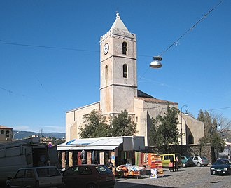 Oliena - The church of Santa Maria is at the centre of Oliena.