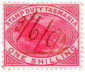 One shilling stamp duty revenue stamp of Tasmania.JPG