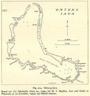 Ontong Java Atoll - Nautical Chart of Ontong Java Atoll, 1934