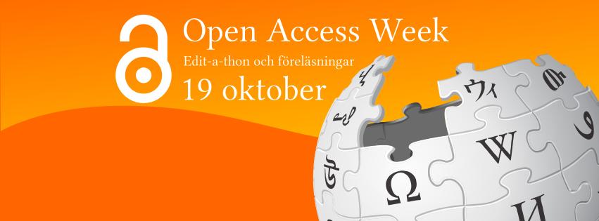 Open Access Week Edit-a-thon banner