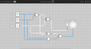 A circuit running in OpenCircuits v2.0 on MacOS, Google Chrome