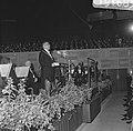 Opening Concertgebouw de Doelen te Rotterdam, Burgemeester Thomassen tijdens toe, Bestanddeelnr 919-1683.jpg