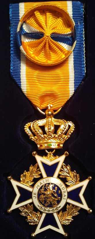 Order of Orange-Nassau - The Officer's Cross (4th grade) (Civil division) in the Order of Orange-Nassau