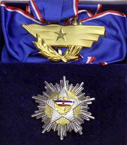 Order of the Yugoslav Flag 1st class insignias (Yugoslavia) - Tallinn Museum of Orders.jpg
