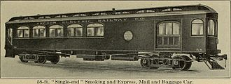 Oregon Electric Railway - Oregon Electric express, mail and baggage car, circa 1913