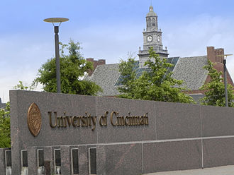 University of Cincinnati - Entrance to main campus at UC