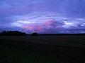 Päikeseloojang põllu kohal, Haaslava vald.JPG