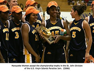 Marquette Golden Eagles - Marquette team photo 2006, Paradise Jam Tournament winner