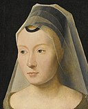 PORTRAIT OF A YOUNG WOMAN ATTRIBUTED TO HANS MEMLING.jpg