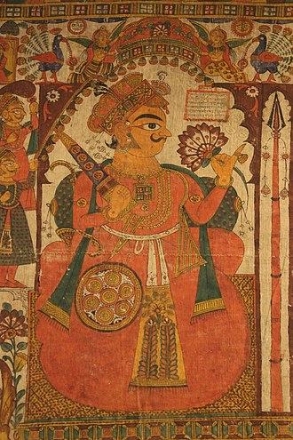 Pabuji - Pabhuji in Pabuji Ki Phad, a Phad painting at National Museum, New Delhi