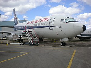 Pacific Western Airlines - PWA Boeing 737-200 at the Alberta Aviation Museum