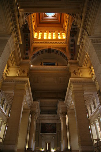 Palais de Justice, Brussels - At the centre of the building looking upwards towards the dome