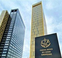 Palais de la Cour de Justice CJEU July 2021 Sign and Towers B and C.jpg