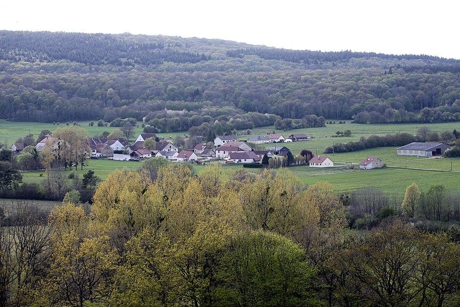 Vue de Palantine (Doubs).